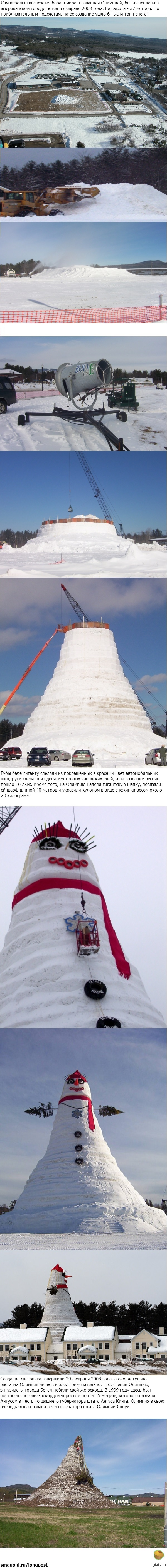 Самая гигантская Снежная Баба