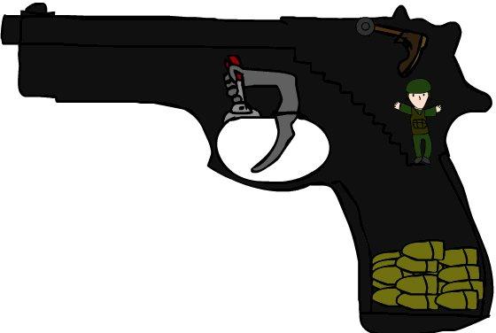 Как работают пистолеты.