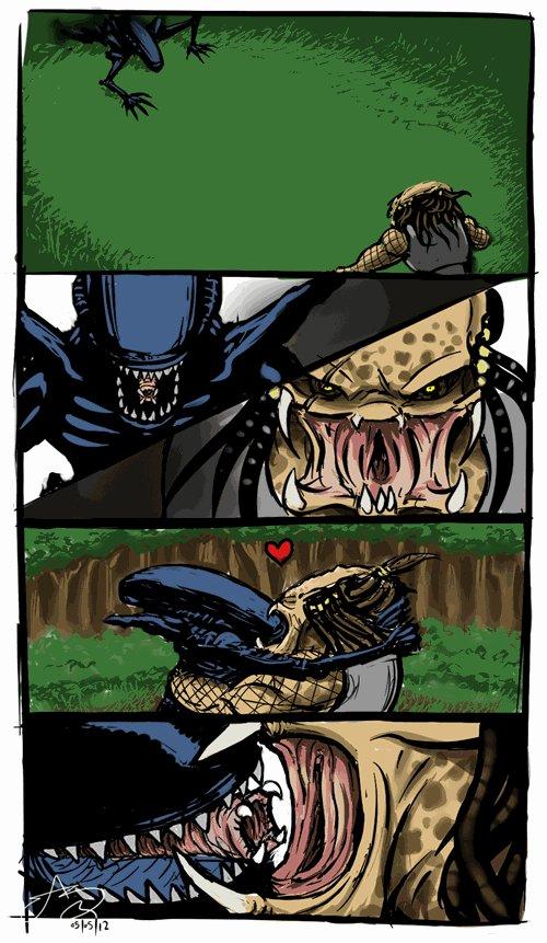 Чужие против хищника секс
