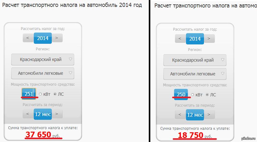 Я люблю Россию Транспортный налог