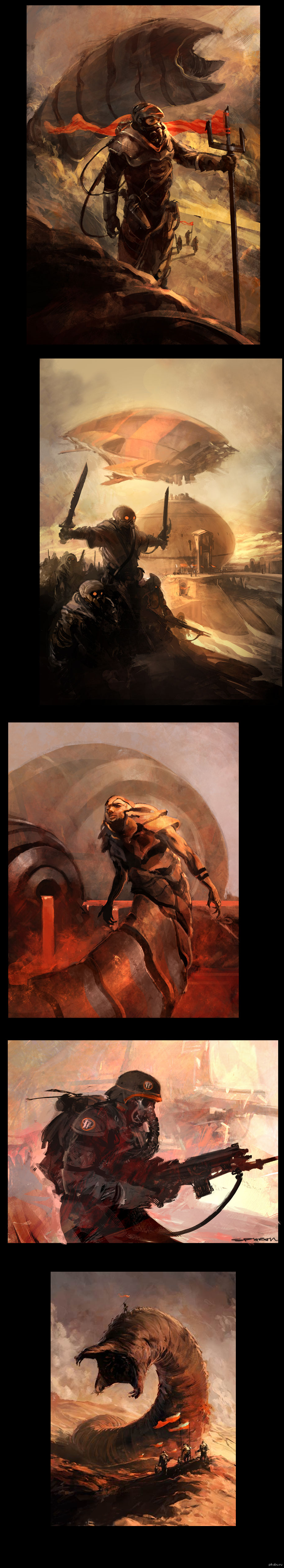 """Великая Дюна Выкладываю на обозрение арты по культовой литературной вселенной """"Dune"""""""